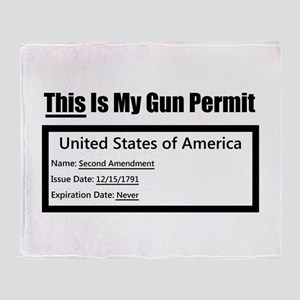 gun permit Arctic Fleece Throw Blanket
