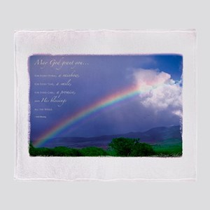 Rainbow Blessing Arctic Fleece Throw Blanket