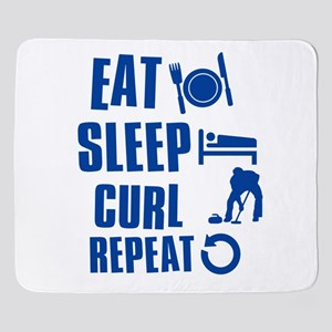 curl Sherpa Fleece Throw Blanket