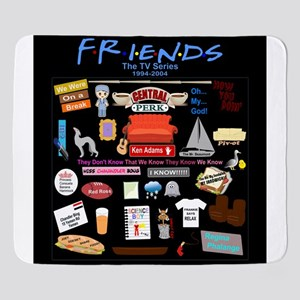 Friends Symbol and Quotes Sherpa Fleece Throw Blan