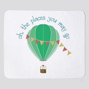 oh, the places you may go Sherpa Fleece Throw Blan