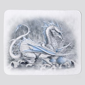 whitedragonBlkT Sherpa Fleece Throw Blanket