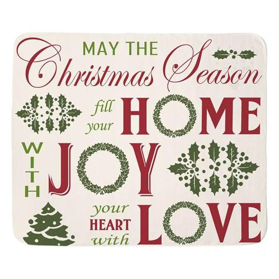 Vintage  Christmas word collage