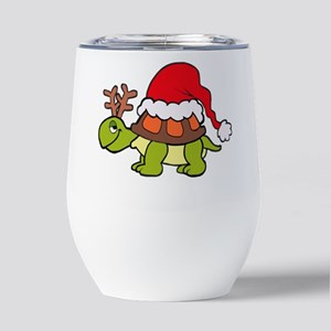Turtle Christmas Insulated Wine Tumbler