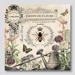 Modern Vintage French Bee Garden Photo Wall Tile
