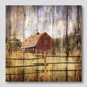 western country red barn Photo Wall Tile