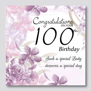 100th Birthday Floral Celebration  Photo Wall Tile