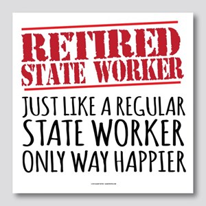Retired State Worker Photo Wall Tile