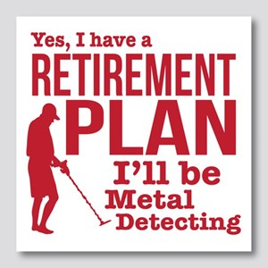 Metal Detector Retirement Plan Photo Wall Tile