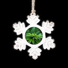 Marijuana Rustic Snowflake Ornament