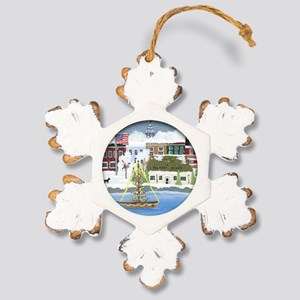 Christmas in Annapolis Rustic Snowflake Ornament