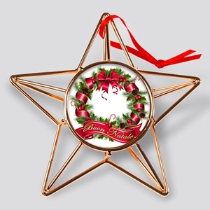 buon natale Copper Star Ornament