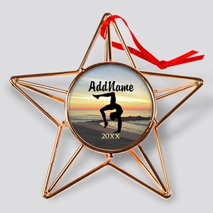 SUPER STAR GYMNAST Copper Star Ornament