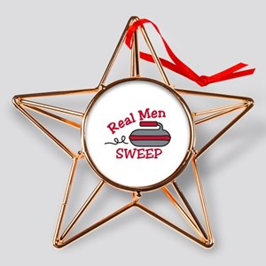 Real Men Sweep Copper Star Ornament