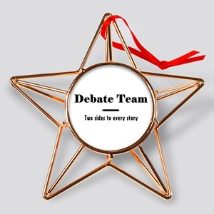 Debate Team Copper Star Ornament