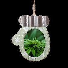 Marijuana Mitten Ornament