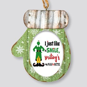 Buddy The Elf Smiling Mitten Ornament