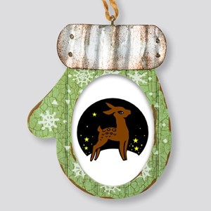 Christmas Little Deer Mitten Ornament