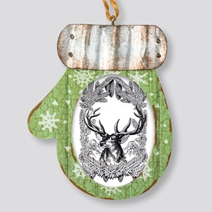 Majestic Deer Mitten Ornament