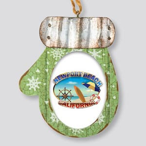 Newport Beach Mitten Ornament