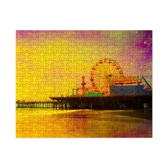 Yellow Santa Monica Pier Small Puzzle