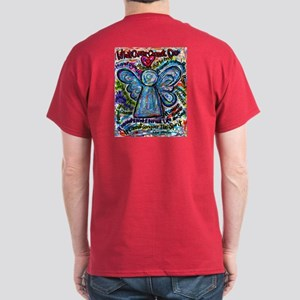 Colorful Cancer Angel Dark T-Shirt