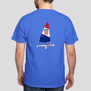 Croatia Dinghy Sailing Dark T-Shirt
