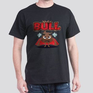 Emoji Bull Shit Dark T-Shirt