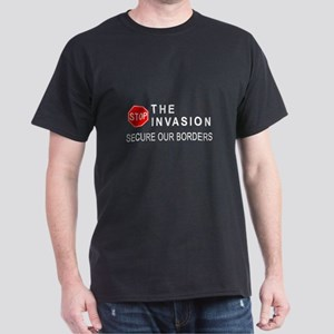 STOP The Invasion  Black T-Shirt