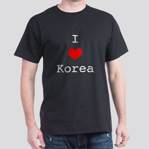 I Love Korea Dark T-Shirt