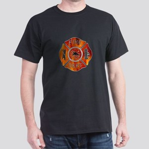 Maltese Cross Fireman Dark T-Shirt