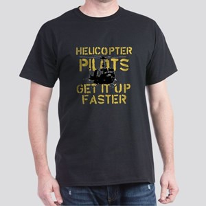 Helicopter Pilots Get It Up F Dark T-Shirt