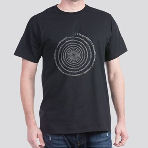 Pi Spiral (white) Dark T-Shirt