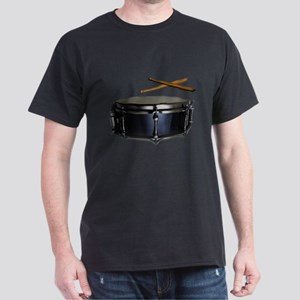 Snare & Sticks Drummer Dark T-Shirt