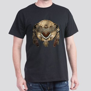 Red-Tail Hawk Dreamcatcher Dark T-Shirt
