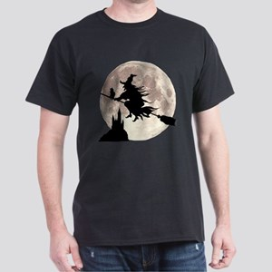Flying Witch Moon Dark T-Shirt