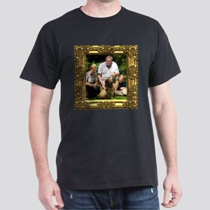 Custom gold baroque framed photo Dark T-Shirt