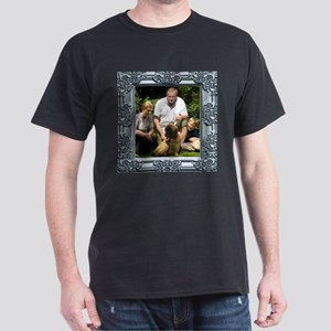 Custom silver baroque framed photo Dark T-Shirt