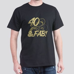 40 And Fabulous (Glitter) Dark T-Shirt