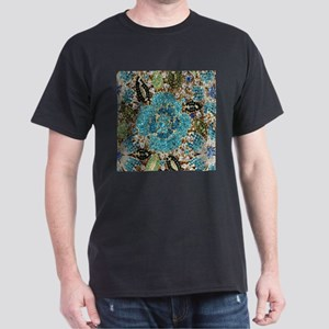 bohemian floral turquoise rhinestone T-Shirt
