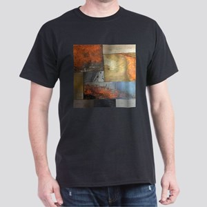contemporary geometric grunge metal T-Shirt