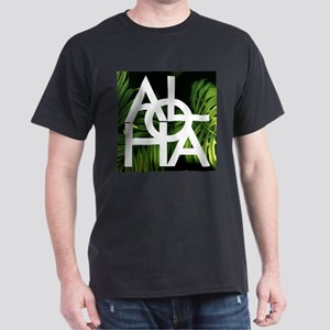 Aloha Whitre Graphic Palm Print T-Shirt