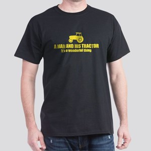 a man and his tractor funny saying Dark T-Shirt