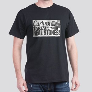 Curling takes Stones Ash Grey T-Shirt