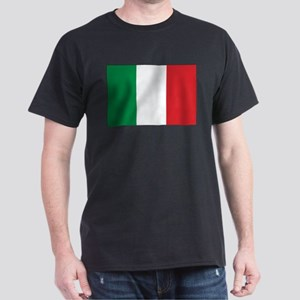 Italy Flag Black T-Shirt