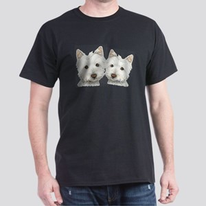 Two Cute West Highland White Dogs Dark T-Shirt