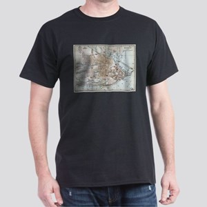Vintage Map of Quebec City (1894) T-Shirt