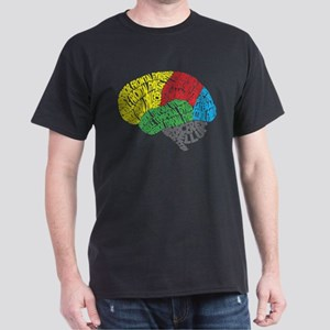 Your Brain (Anatomy) on Words Dark T-Shirt