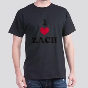 I Love Zach Dark T-Shirt