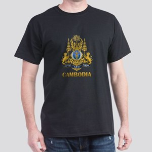 Cambodia Coat Of Arms Dark T-Shirt